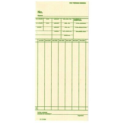 1000 Simplex Weekly Time Cards 7 Day Across 3-14w Replaces Form 1950-9108