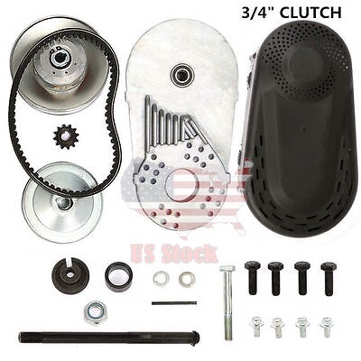 "6.5 HP 212CC GO Kart Torque Converter Clutch 3/4"" #40 #41 10T & #35 12T US EKN"