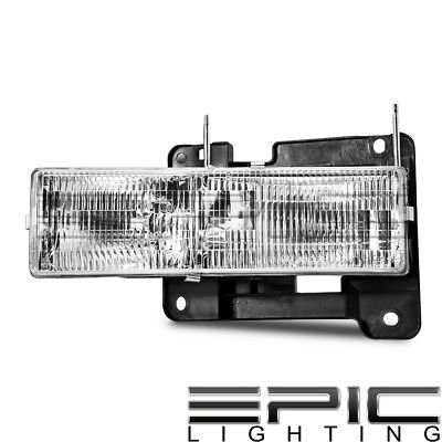 Right Passenger Side RH Head Lamp for 1990-2000 CHEVROLET SILVERADO C1500 K1500