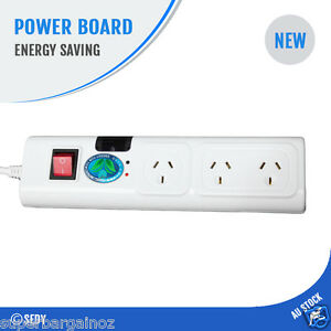 NEW 3 Way Energy Saving Power Board Surge Protected Powerboard TV Smart Infrared