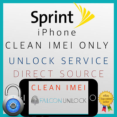 CLEAN IMEI Sprint USA iPhone 6/6+/SE/6s/6s+ UNLOCK SERVICE CODE