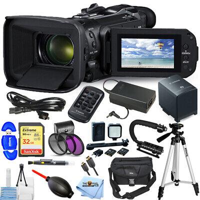 Canon Vixia HF G60 UHD 4K Camcorder 3670C002 32GB Filter Kit LED Light Bundle