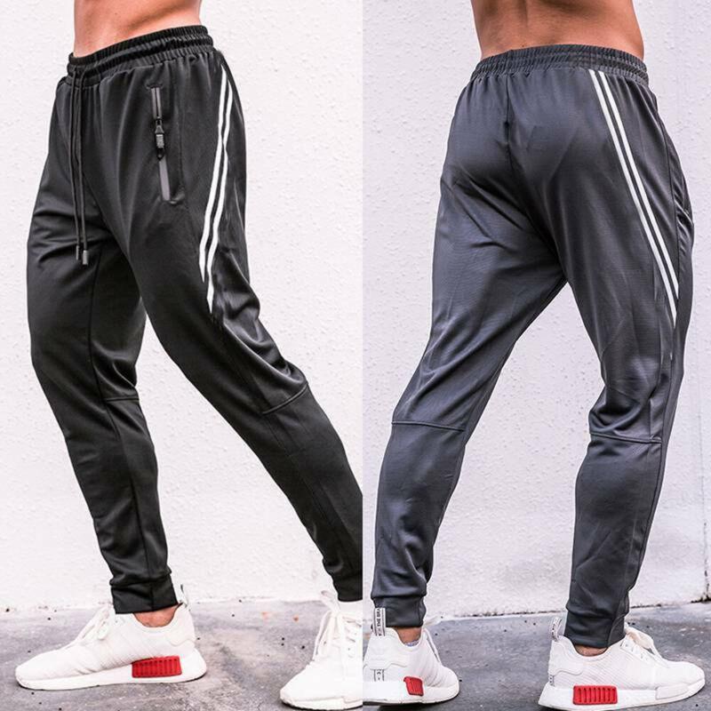 NEW Mens Casual Soccer Training Pants Sport Sweat Pants Trou