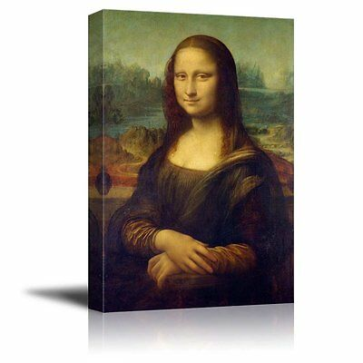 Canvas - Mona Lisa by Da Vinci Home Decor Oil Painting Reproduction - 16