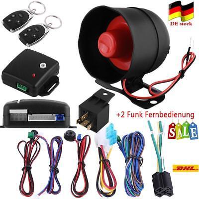 Universal Auto Kfz ZV Zentralverriegelung Alarmanlage +2 Funk Fernbedienung SG01