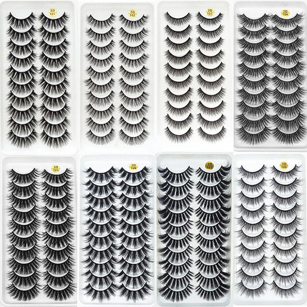10 Pairs 3D Mink lashes False Eyelashes Natural/Thick Long 2
