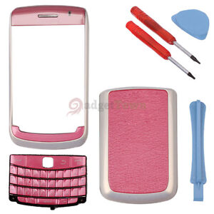 4-Piece-Housing-for-Blackberry-Bold-9700-9780-Pink-White