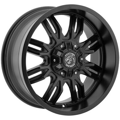"""4-20"""" Inch Panther Offroad 580 20x9 5x135/5x5.5"""" +0mm Gloss Black Wheels Rims"""