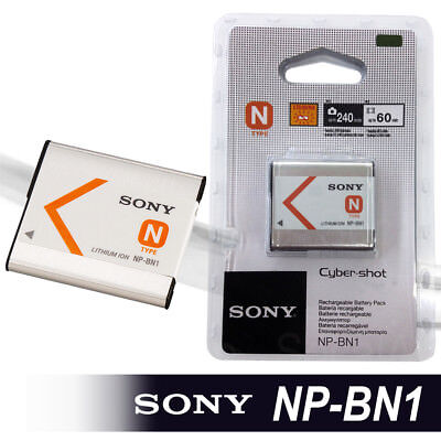 New Sony NP-BN1 Lithium-Ion N Type Rechargeable Battery 600mAh Cyber Shot NIB
