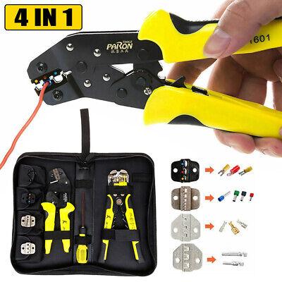4 In 1 Wire Crimper Tools Set Striper Crimping Plierscrewdriverend Terminals