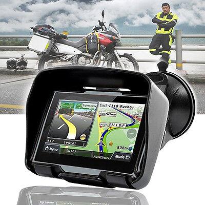 """4.3"""" Waterproof GPS Bluetooth Motorcycle Sat Nav Car Bike Navigation System 8GB"""