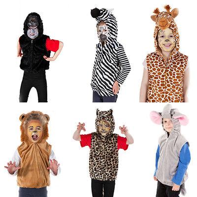 KIDS GIRLS BOYS CHILD JUNGLE ZOO WILD SAFARI BOOK DAY ANIMAL COSTUME AGE - Wild Animal Costumes