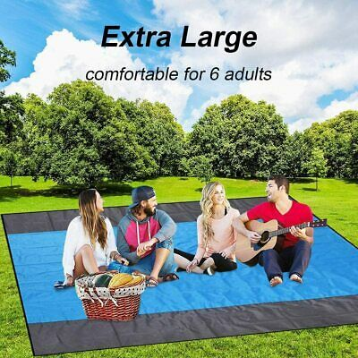 """XL Beach Blanket  110""""x100"""" With Sand Pockets To Hold Down B"""