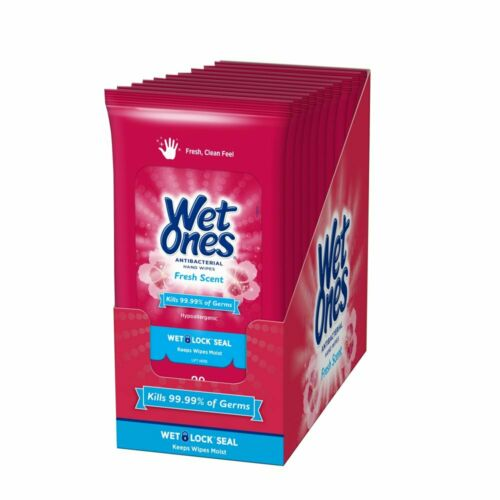 Wet Ones 🤚  Fresh Scent 20 Count Flow Pack PACK OF 10 😷👌