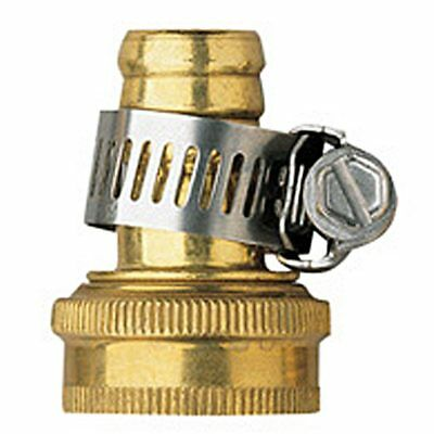 Orbit 5/8 Brass Female Thread Shank Hose Mender w/Clamp