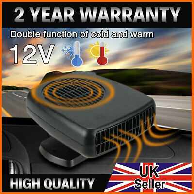 12V 200W Demister Car Auto Portable 2 In 1 Heater Cooler Fan Plugin Dryer UK