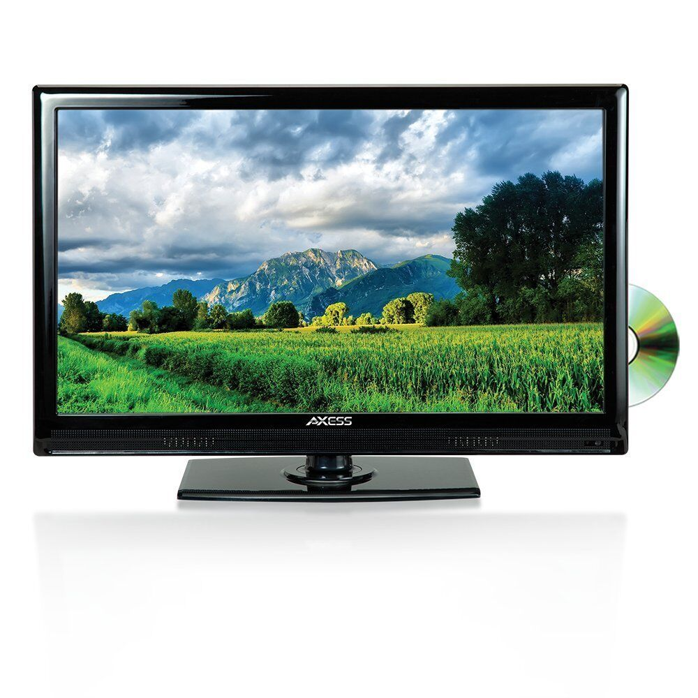 "New Axess HD 19"" LCD LED TV HDTV 1080p DVD Player USBSD HDMI"