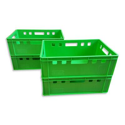 4 x Eurofleischkiste E2 Lagerkiste Metzgerkiste Box Behälter stapelbar