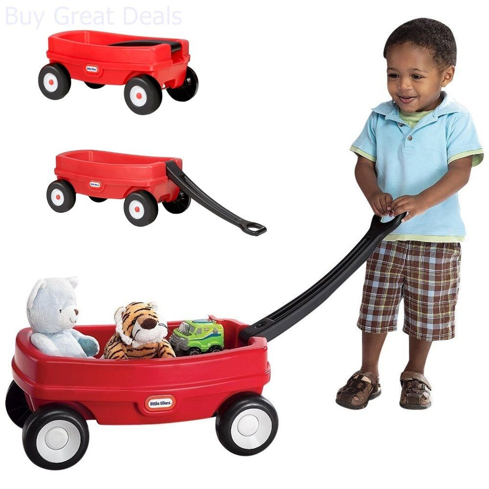 Photo Little Tikes Red Wagon Kids Outdoor Play Toy Lil Indoor Outdoor Wagon