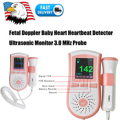 Prenatal Fetal Doppler Fetus Heartbeat Detector Ultrasonic Monitor 3mhz Probe