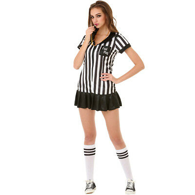 Risque Referee Soccer Football Futbol Sexy Adult Women's Costume](Soccer Costumes)