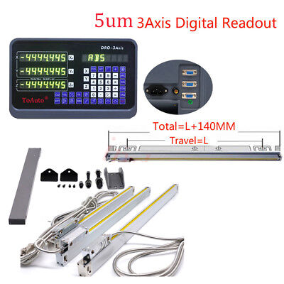 4 14 28 Linear Glass Scales 3axis Digital Readout 0.005mm Cnc Milling Lathe