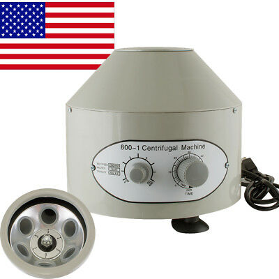 Electric Centrifuge Machine Lab Medical Practice 800-1 4000rpm W 6x 20ml Rotor