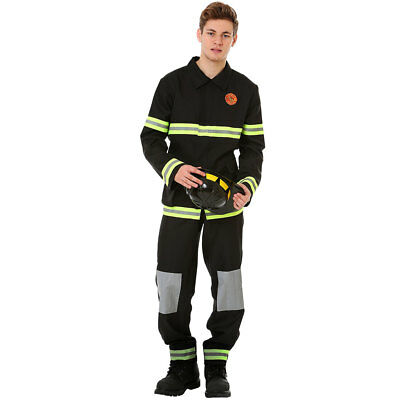 Men's Five-Alarm Firefighter Halloween Costume | Adult Dress Up Outfit - Fireman Halloween Outfit