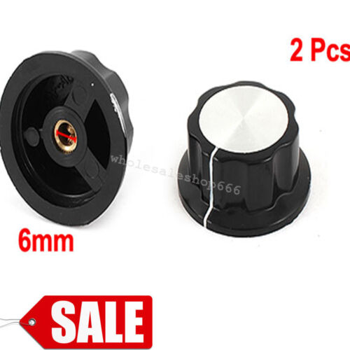2Pcs 36mm Top Rotary Control Turning Knob for Hole 6mm Dia. Shaft Potentiometer