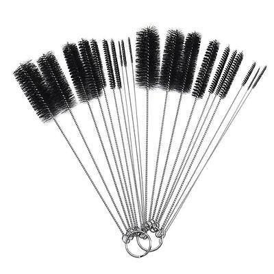 10Pcs Nylon Bottle Tube Nozzle Brushes Cleaning Brush Set for Kitchen Tattoo New