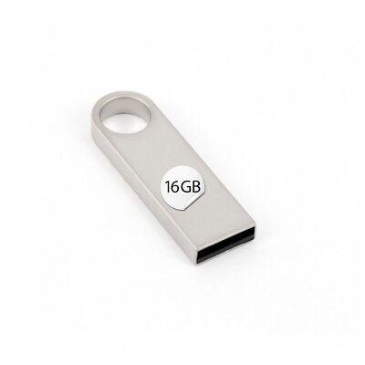 USB Stick 16 GB Schlüsselanhänger Silber