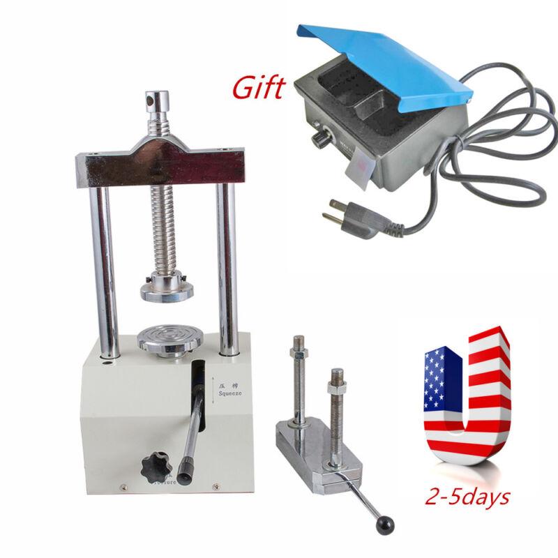 Dental Lab Hydraulic Press Flask Presser Pressure w Magnetic Articulator Hold US