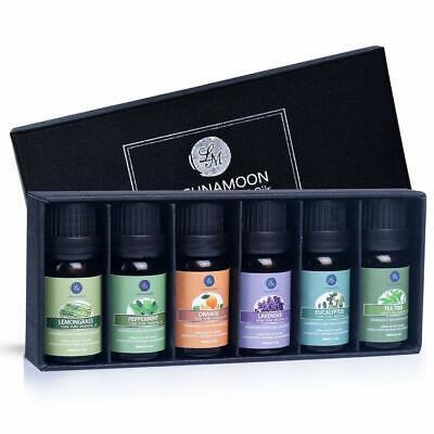 Lagunamoon Olio Essenziale, Top 6 Set di Olio Essenziale Aromaterapia puro 100%