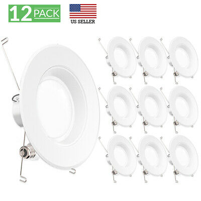 SUNCO 12PACK 6-INCH RETROFIT RECESSED 13W LUMEN 5000K LIGHT DIMMABLE BF