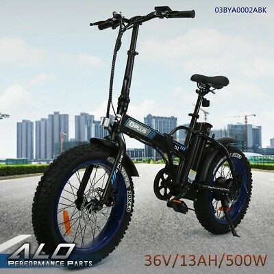 "Folding Electric Bicycle Beach Snow City eBike 7 Spe 20""500W 36V 13Ah Fat Tire"