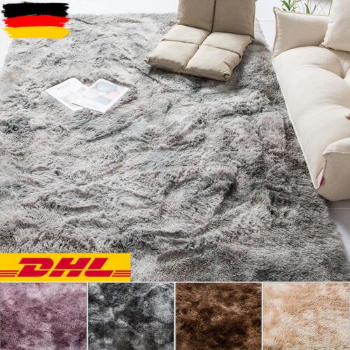 Haus Teppich Weich Shaggy Carpet Matte Waschbar Fellteppich Kunstfell Hochflor