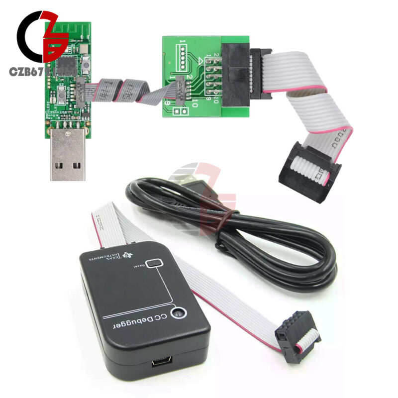 CC2531 Sniffer USB Dongle BTool CC Debugger Emulator&Programmer+Downloader Cable