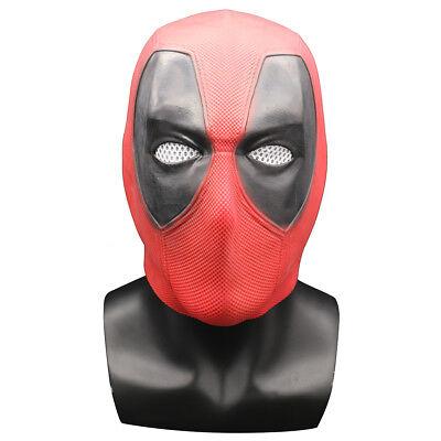 US SHIP Deadpool Latex Head Face Mask Cosplay Costume Prop Helmet Halloween