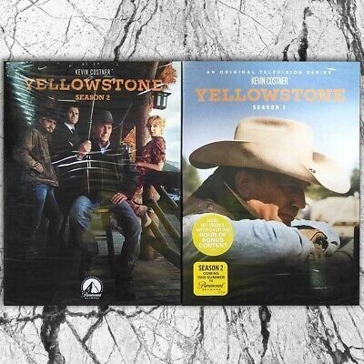 Yellowstone Seasons 1 & 2 (DVD, 2019, 8-Disc,Region 1 US)Fast shipping