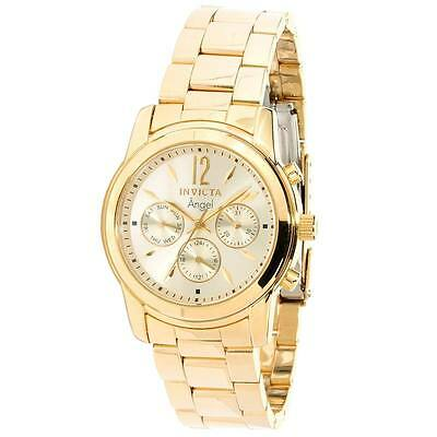 Invicta 12551 Women's Angel Gold Plated Stainless Steel Champagne Dial Swiss Wat
