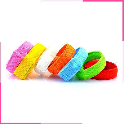 Glowing LED Flashing Wrist Band Bracelet Arm Band Belt Light Up Dance Party sk - Led Wrist Bands
