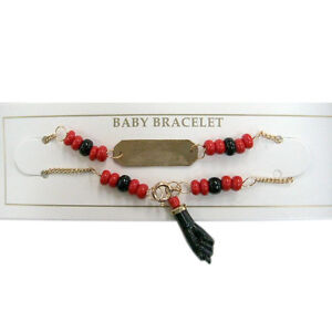 Azabache Bracelet for Babies Protection from Evil Eye Red