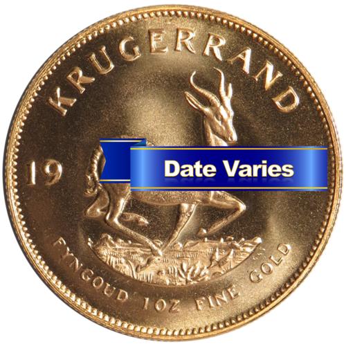 South African Gold Krugerrand 1 oz Random Year Uncirculated