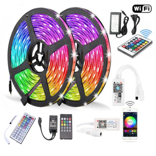 10M 5050 RGB SMD Waterproof LED Strip Light Bluetooth WiFi R