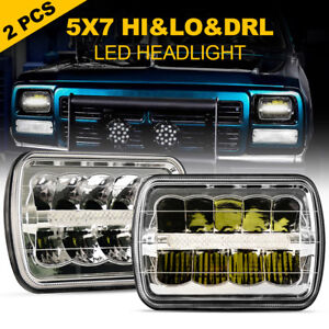 2x H6054 7 X6 Led Headlight Sealed Beam Square Headlamp For Toyota Pickup Truck Fits 1995 Nissan