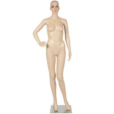 Female Mannequin Plastic Display Head Turns Dress Full Body Form W Base New