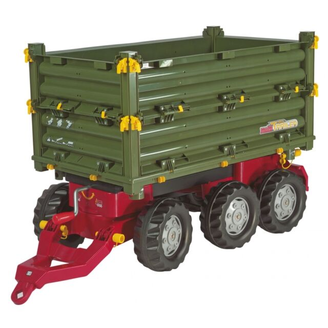 Rolly Toys Multi-Trailer Anhänger Kipper Dreiseitenkipper grün