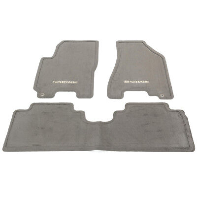 OEM NEW Carpet Floor Mats 3-Piece Set Gray 2005-2010 Kia Sportage P8140-1F000EZ
