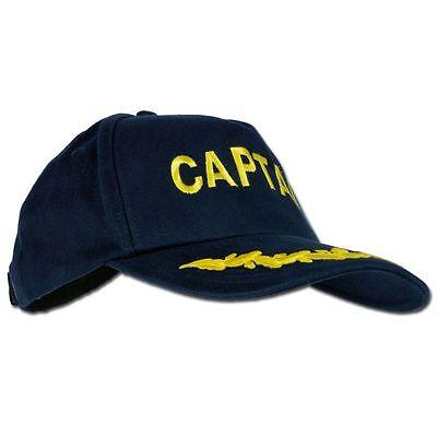 Baseballcap Mütze Basecap Cap Herren bestickt Captain 100% Baumwolle
