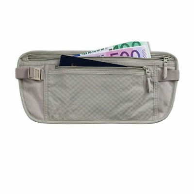 TRAVEL POUCH BAG MONEY PASSPORT ID WAIST HOLDER SECURITY CASE BELT HIDDEN HOLDER